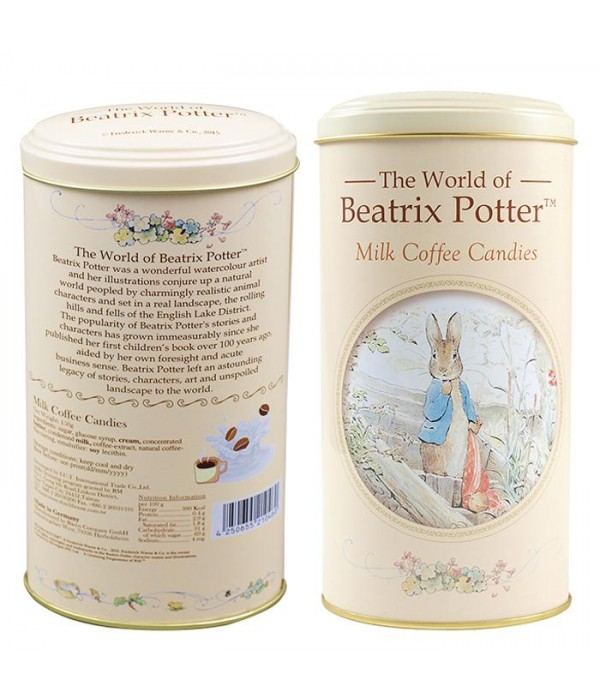 比得兔牛奶咖啡糖高罐裝Peter Rabbit Milk Coffee Candies  ( Tall Tins)