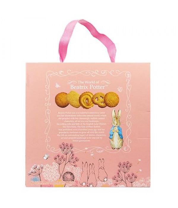 比得兔丹麥牛油曲奇餅(粉紅色禮盒版)肉色班傑明Peter Rabbit  Denmark Butter Cookies 26%(Pink Gift Box)