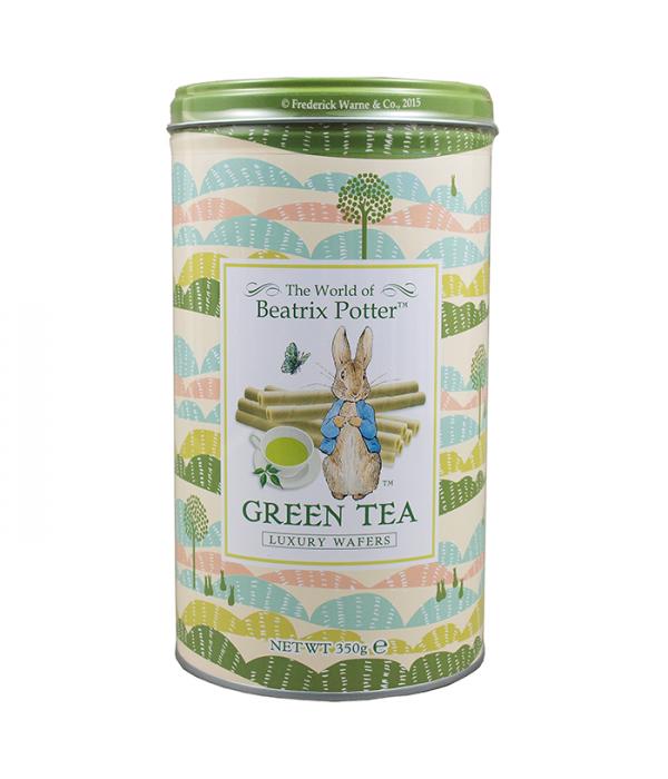 波特小姐日式抹茶罐裝威化捲心酥Beatrix Potter Luxury Wafer Rolls Green Tea
