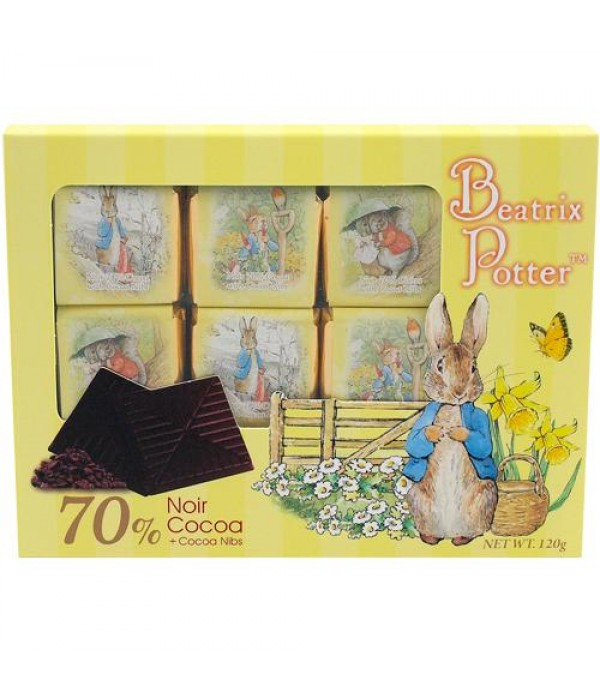 波特小姐70%可可脆粒黑朱古力薄片Beatrix Potter Chocolate Noir 70% Cocoa with Cocoa nibs