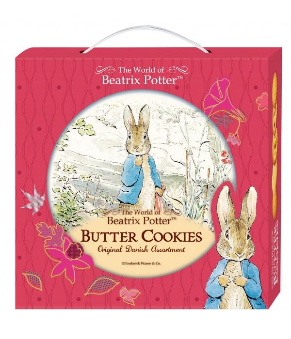 比得兔丹麥牛油曲奇餅(禮盒版) (藍色比得兔站在石階上)Peter Rabbit  Denmark Butter Cookies 26%(Gift Box)