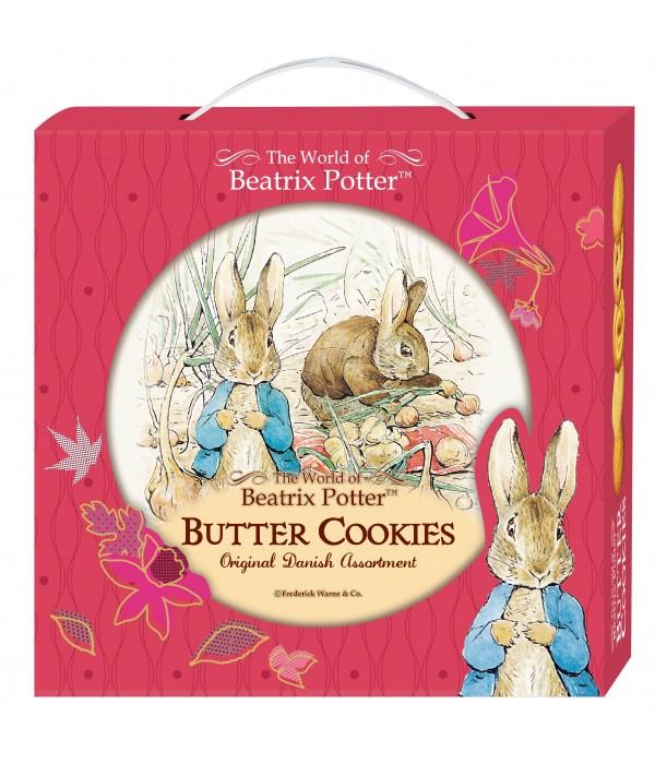 比得兔丹麥牛油曲奇餅(禮盒版)肉色班傑明Peter Rabbit  Denmark Butter Cookies 26%( Gift Box)