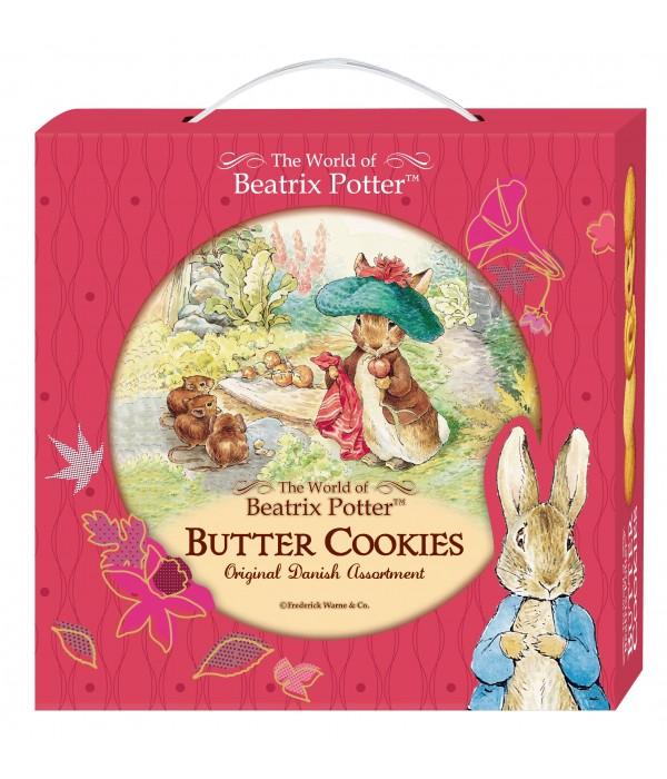 比得兔丹麥牛油曲奇餅(色禮盒版)(紅色戴帽子的班傑明)Peter Rabbit  Denmark Butter Cookies 26%(Gift Box)