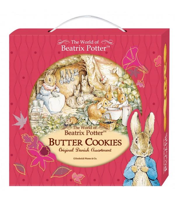 比得兔丹麥牛油曲奇餅(禮盒版)橙色兔子窩Peter Rabbit  Denmark Butter Cookies 26%(Gift Box)