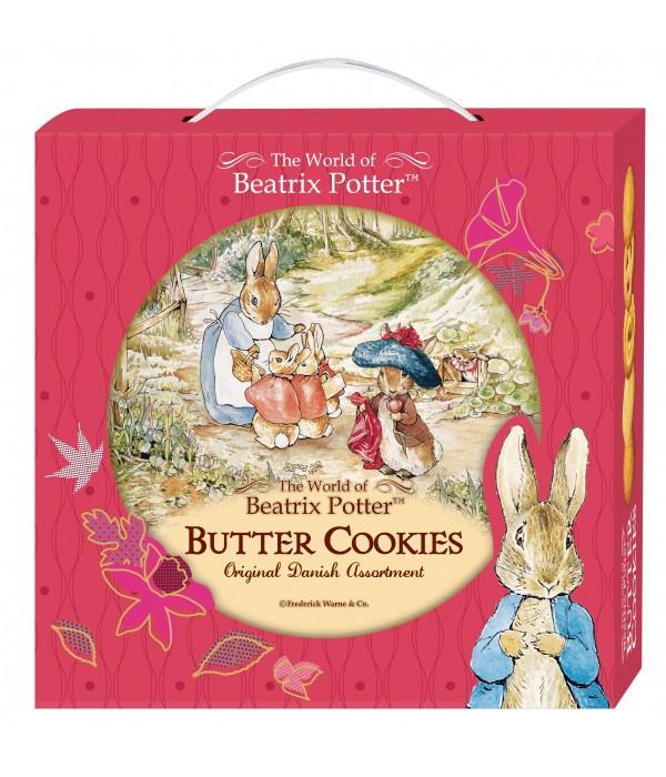 比得兔丹麥牛油曲奇餅(禮盒版)黃色森林裡裡Peter Rabbit  Denmark Butter Cookies 26%( Gift Box)